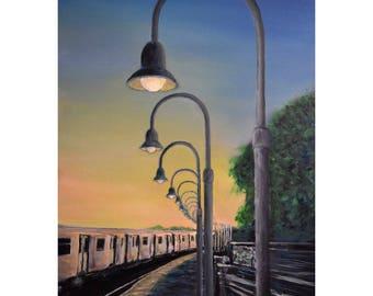 Sunset At The Subway
