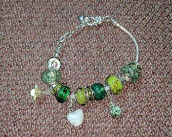 Frog Green Beaded Bracelet