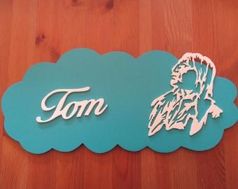 customizable with Indian blue door plaque