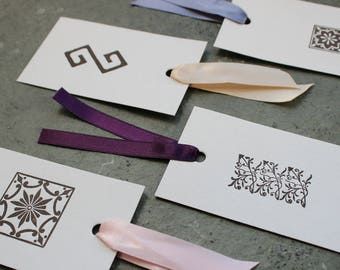 Assorted Letterpress Gift Tags - Set of 5 - Bespoke Design for Birthdays, Special Occasions, Scrapbooking