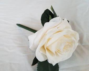 White Satin Rose Pen