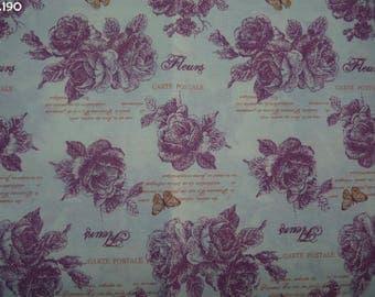 Fabric Roses C190 coupon 35x50cm