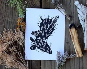 Blank Cactus Card