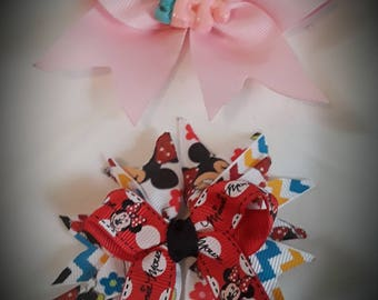 Set of 2 hair bows accessory