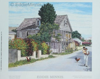 Old House - Bahamian art print of original oil painting by Eddie Minnis