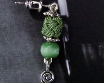 04 BOPOCV trimmings and green cat's eye earrings