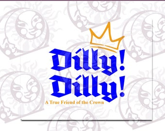 Dilly! Dilly! #5 - SVG, EPS, PNG Cutting and Design Files, Instant Download