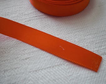 Orange satin ribbon 9.5 millimetres