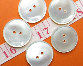 Buttons MOP 1.7 cm (5) - #2422_17