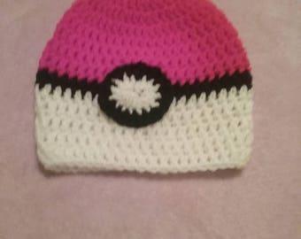 pokeymon crocheted hat for winter or back to school