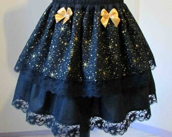 Skirt gold galaxy stars