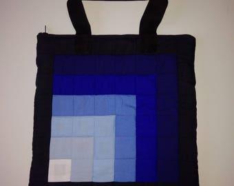 Blue Bonanza Hand Patchworked Handbag