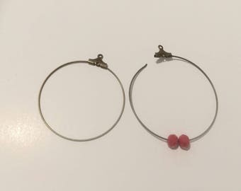 20 hoop earrings 40mm bronze creations of jewels