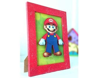 Mario bros  frame. The perfect decoration for Kids Nightstand