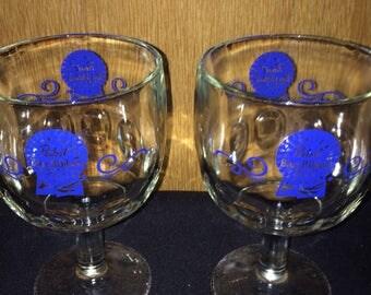 PBR Lot of 2 Pabst Blue Ribbon Beer Mug 1970 Vintage