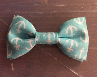 Bow Tie / Clip on Bow Tie / Infant Bow Tie / Boys Bow Ties / Kids Bow Tie / Handmade Christmas Gift/ Toddler Bow Ties / Blue Bow Tie