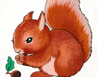 Small illustration of a squirrel