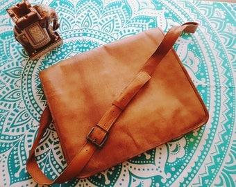 Vintage genuine leather Briefcase laptop bag