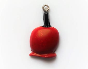 Red toffee Apple x 1 polymer clay charm