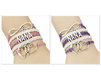 NANA leatherette bracelet  4 colours