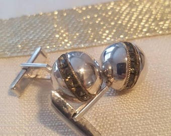 Vintage Marcasite Cuff Links