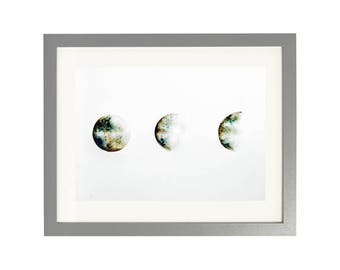 THREE MOON PRINT