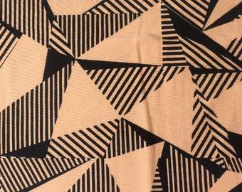 Peach Geometric - cotton jersey