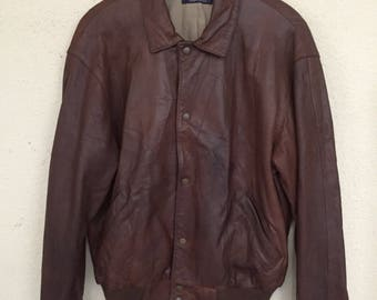 RARE Vintage Polo Ralph Lauren Leather Jacket