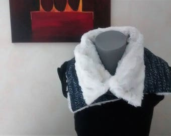 Wool and faux fur Choker.