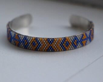 Miyuki bracelet blue & mustard