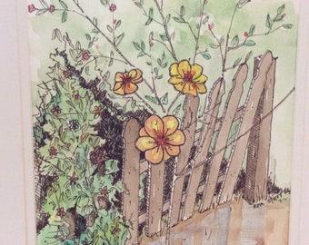 Flowers on fence, Mandeville La.