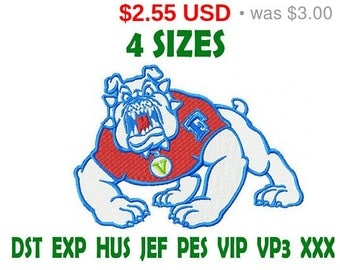 Sale 15% Fresno State Bulldogs embroidery design logo / embroidery designs / INSTANT download machine embroidery pattern