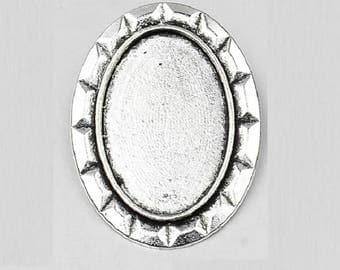 20x30mm, silver plated brooch back pin