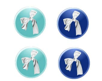 16mm, 2 pairs of bows silver