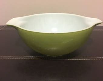 Pyrex Cinderella mixing bowl, olive green