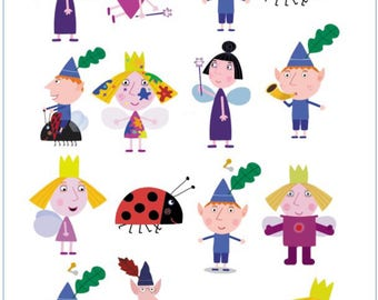 Ben And Holly Little Kingdom Temporary Tattoo Sticker. Party Supplies  Bunting Lolly Loot Bags Fairy Part 44