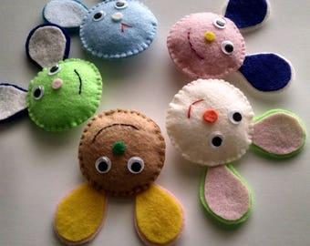 Felt of a doll face, Wholesale animals face,Diy craft