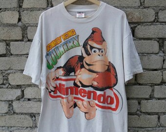 Rare !! Vintage 90s Nintendo Nes Donkey Kong Country Shirt