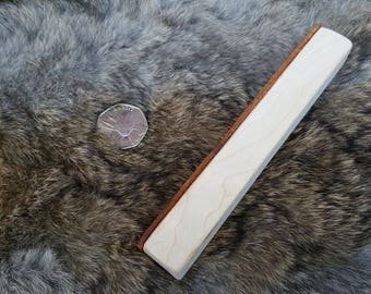 Leather Honing Pocket Strop - Maple Wood