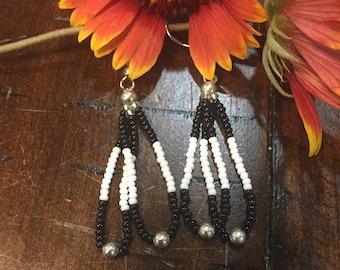Native American inspired double loop earrings