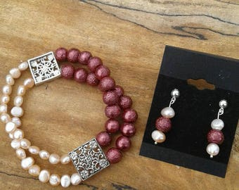 Freshwater cultured pearl set