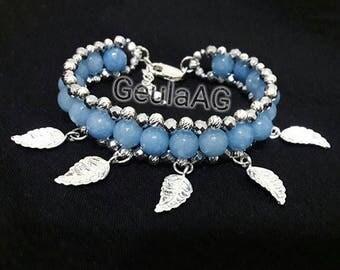 Bracelet with pendants . Blue bracelet