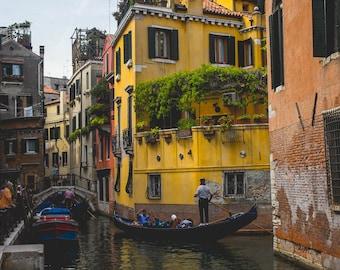 Busy Venice Canal