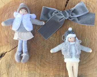 New year's eve Silver or grey Large hand tied velvet bow for babies, toddlers and little girls.