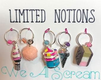 We All Scream - Ice Cream Themed Stitch Markers
