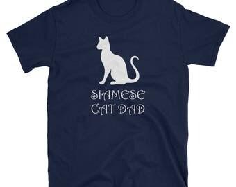 Siamese Cat Dad Short-Sleeve T-Shirt