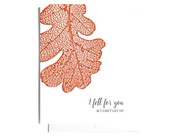 I Fell for you Note Card