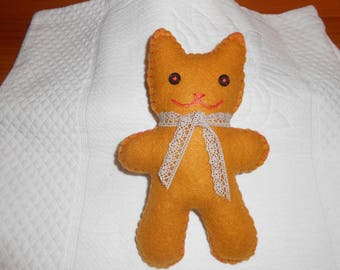 Adorable kitten in felt