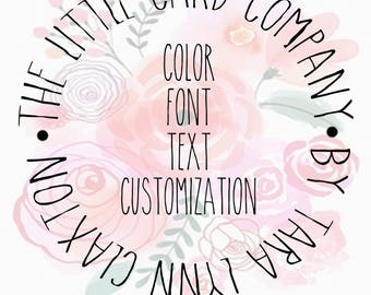 Color, Font, Text Layout Customization Package [Add-on]