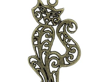 1 bronze pendant cat
